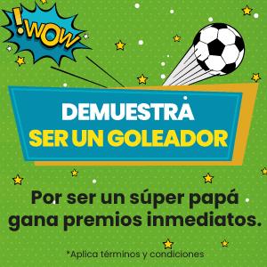 ¡Papá, demuestra ser un goleador!